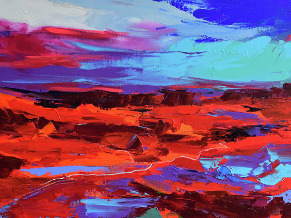 Painting - Canyon At Dusk by Elise Palmigiani