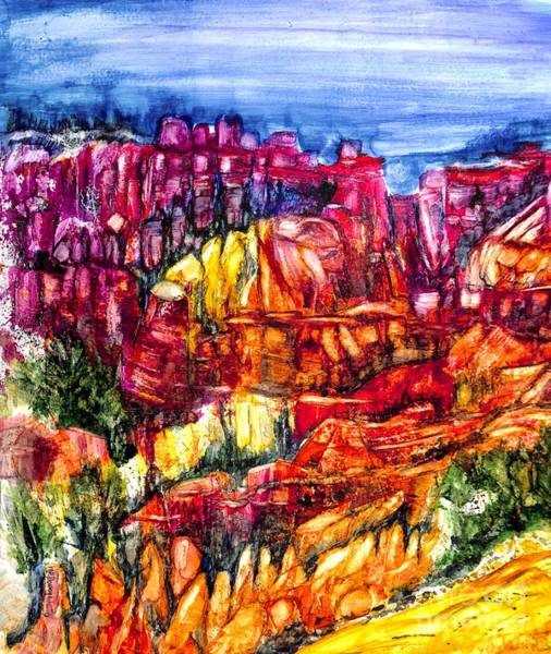 Valley Of Fire Painting - Canyon Color by Patty Donoghue