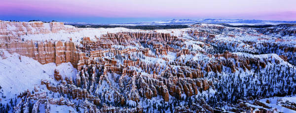 Wall Art - Photograph - Canyon Covered With Snow, Bryce Point by Panoramic Images