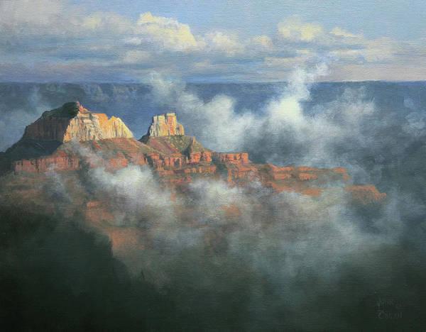 Canyon Mists After The Rains Art Print