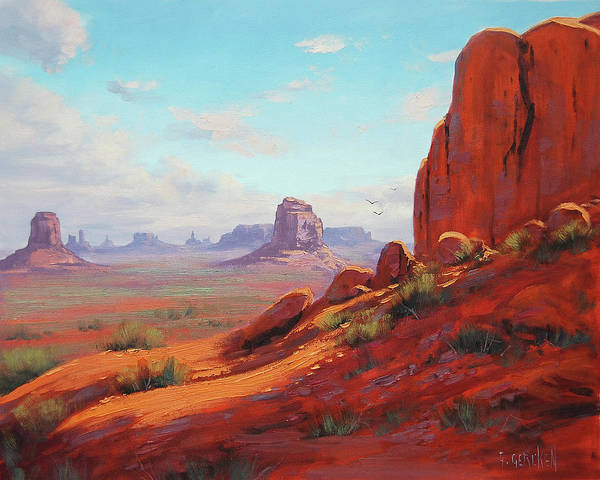 Zion Painting - Canyonlands  by Graham Gercken