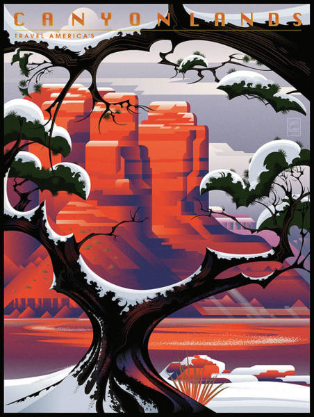 Pine Valley Digital Art - Canyonlands Studio Sedona Winter by Garth Glazier