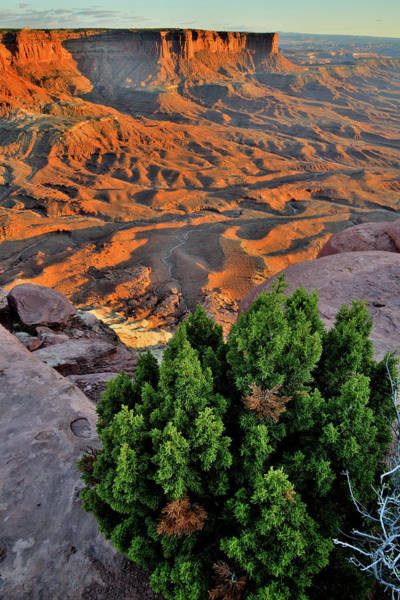 Photograph - Canyonlands Sunset From Green River Overlook by Ray Mathis