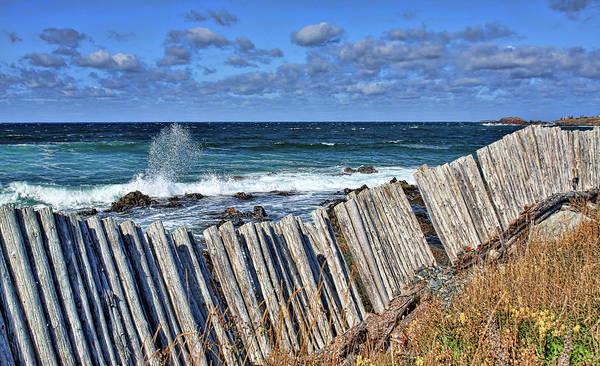Photograph - Cape Bonavista Coastline Fence 3 by Tatiana Travelways