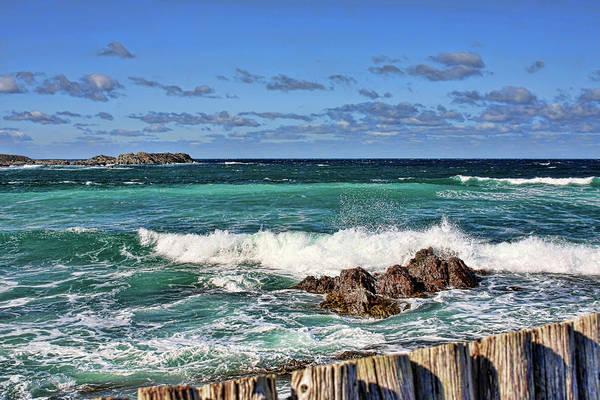 Photograph - Cape Bonavista Coastline Fence 4 by Tatiana Travelways