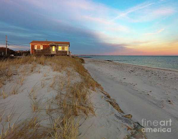 Photograph - Cape Cod Beach House At Sunset by Michelle Constantine