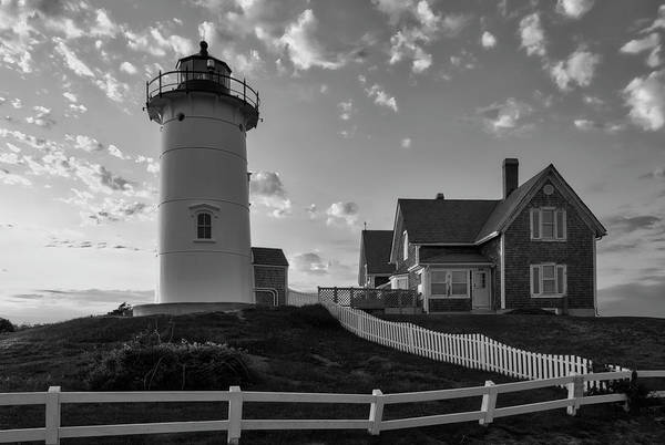 Photograph - Cape Cod Black And White Photography Of Nobska Light by Juergen Roth