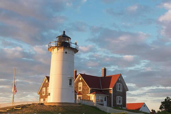 Falmouth Wall Art - Photograph - Cape Cod, Nobska Lighthouse by Greg Probst