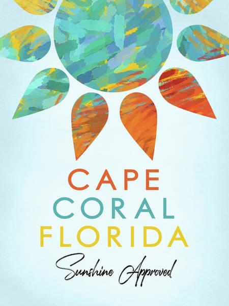 Coral Digital Art - Cape Coral Florida Sunshine by Flo Karp