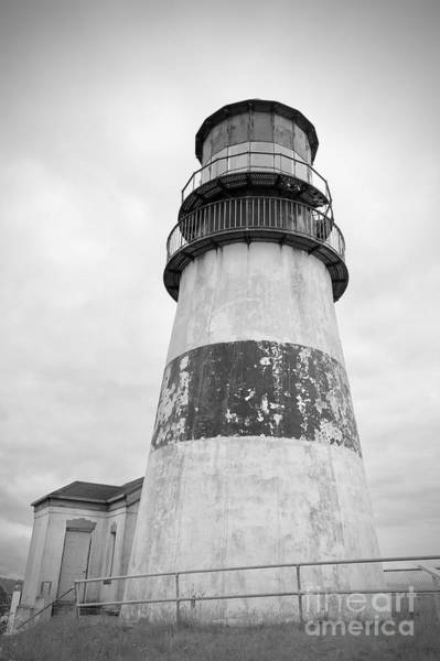 Photograph - Cape Disappointment Lighthouse Black And White by Carol Groenen