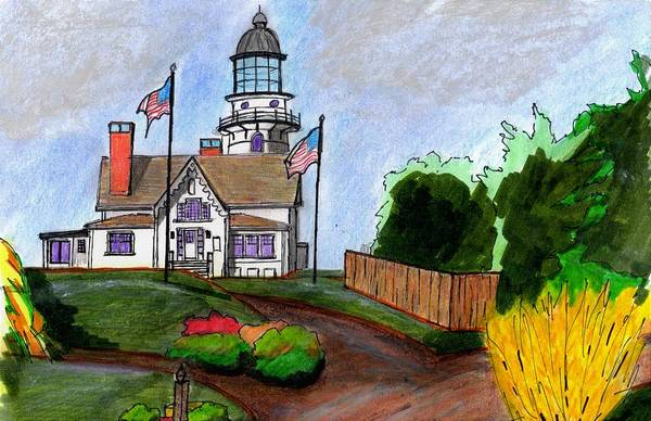 Wall Art - Drawing - Cape Elizabeth Maine by Paul Meinerth