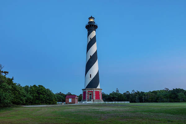 Wall Art - Photograph - Cape Hatteras Light At Dusk by Claudia Domenig
