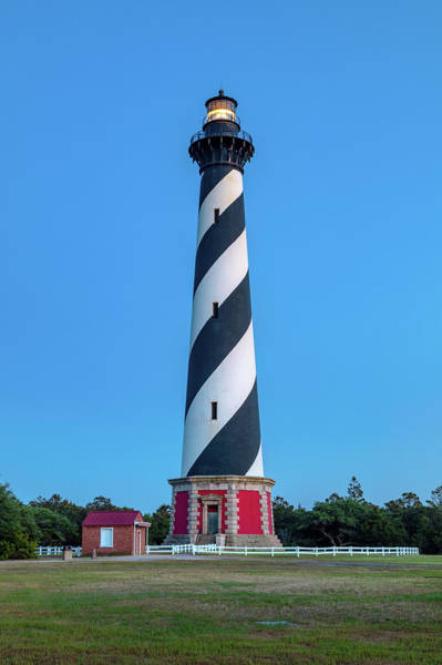Wall Art - Photograph - Cape Hatteras Light During The Blue Hour by Claudia Domenig