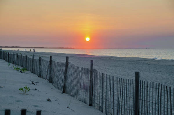 Wall Art - Photograph - Cape May - Cyclone Fence At Sunrise by Bill Cannon