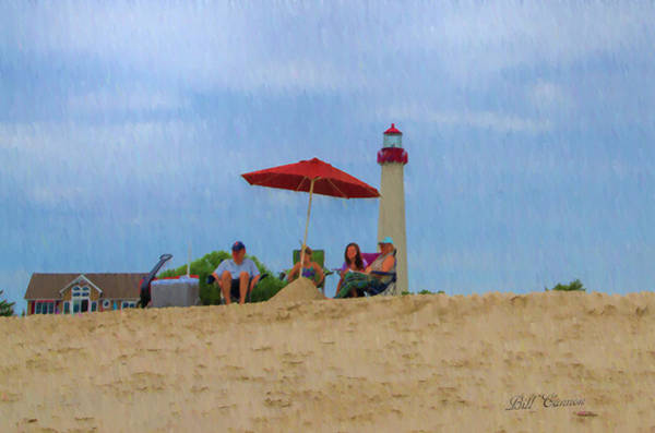 Photograph - Cape May Lighthouse Beach Day by Bill Cannon