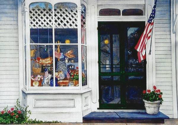 Wall Art - Painting - Cape May Store Front by Pat Shamy