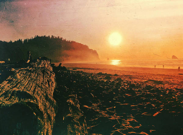 Digital Art - Cape Meares Beach by Chriss Pagani
