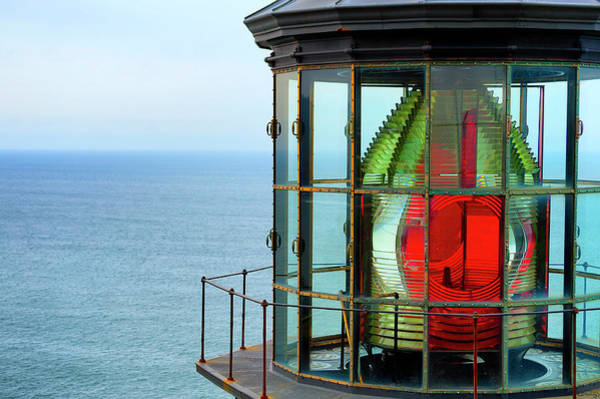 Art Print featuring the photograph Cape Meares Beacon Light by Dee Browning