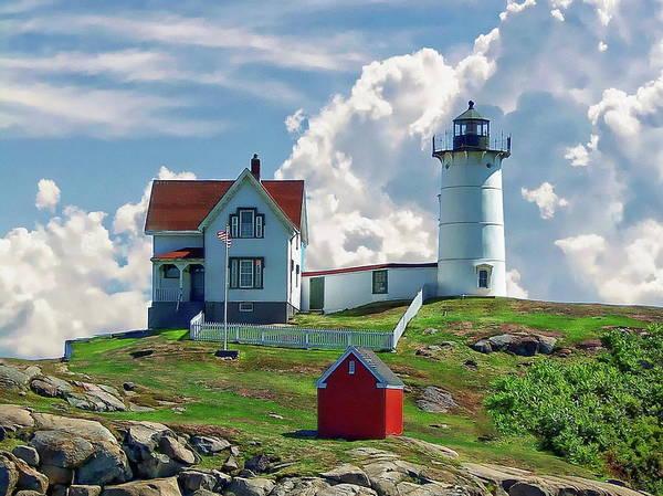 Photograph - Cape Neddick Nubble Lighthouse by Anthony Dezenzio