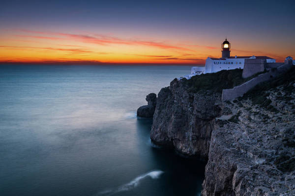 Photograph - Cape Saint Vincent Lighthouse by Michael Blanchette