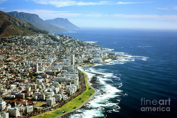 Sightseeing Wall Art - Photograph - Cape Town - South Africa - Aerial View by Mark Van Overmeire