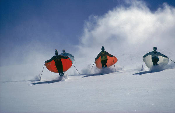 Skiing Photograph - Caped Skiers by Slim Aarons