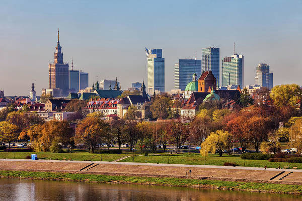 Wall Art - Photograph - Capital City Of Warsaw Cityscape In Spring by Artur Bogacki