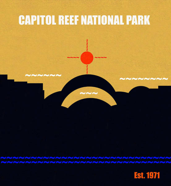 Arch Mixed Media - Capital Reef N. P. M Series by David Lee Thompson