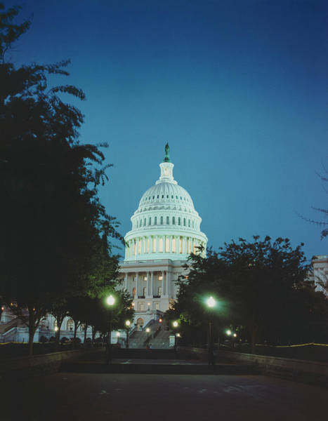 Photograph - Capitol Building At Night by Silvia Otte