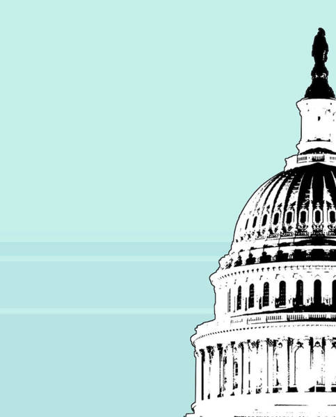 Exterior Digital Art - Capitol Building, High Section by Jason Reed