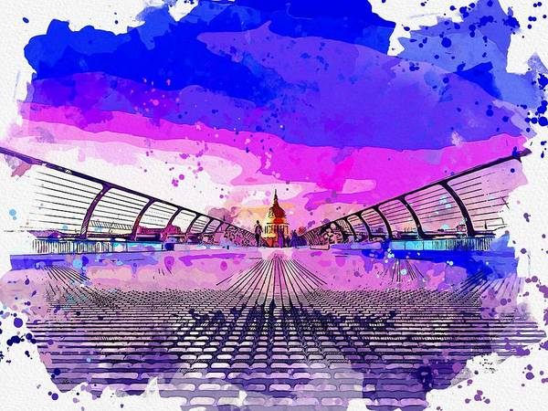 Wall Art - Painting - Capitol Building Washington Dc Usa Watercolor By Ahmet Asar by Celestial Images