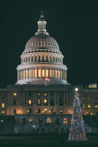 Us Capitol Photograph - Capitol Christmas 2018 by Robert Fawcett
