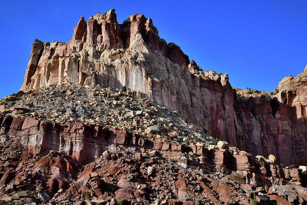 Photograph - Capitol Gorge Butte In Capitol Reef by Ray Mathis
