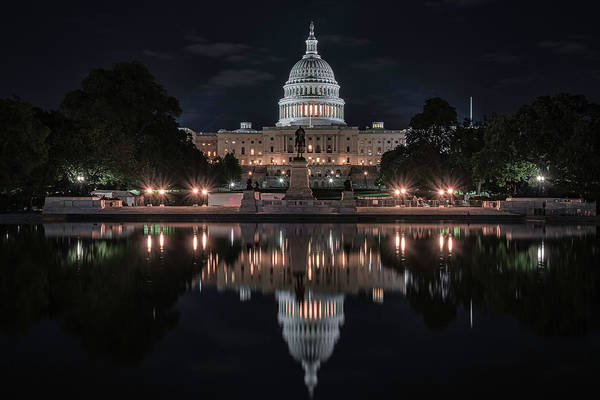 Wall Art - Photograph - Capitol Night by Robert Fawcett