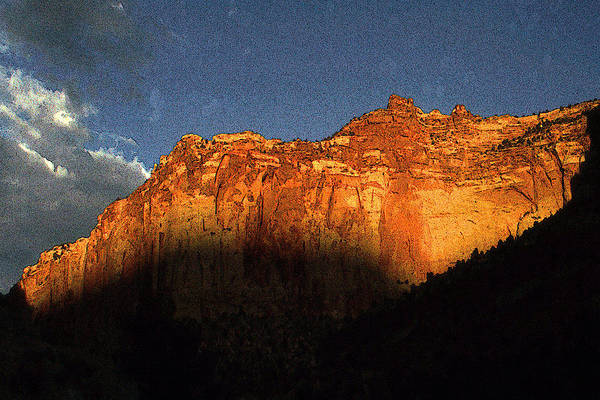Painting - Capitol Reef Sunset Utah - Color Illustration by Peter Potter