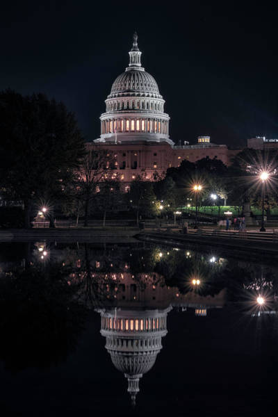 Wall Art - Photograph - Capitol Reflection by Robert Fawcett