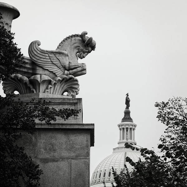Photograph - Capitol Statues by George Taylor