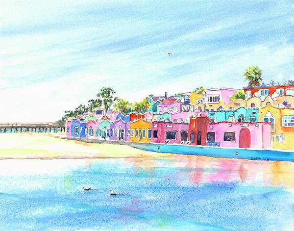 Painting - Capitola California Colorful Houses by Carlin Blahnik CarlinArtWatercolor