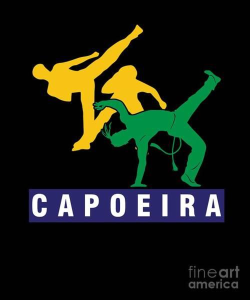 Capoeira Digital Art - Capoeira Afro Brazilian Mix Martial Arts Dance Acrobat Music Gift by Thomas Larch
