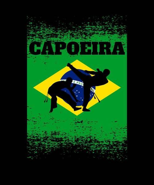 Capoeira Digital Art - Capoeira Brazillian Dance Martial Arts by Jonathan Golding