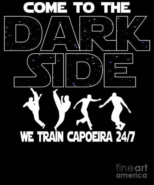 Capoeira Digital Art - Capoeira Dark Side Funny Gift by Dusan Vrdelja