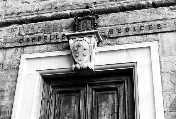 Photograph - Cappelle Medicee Coat Of Arms In Florence by John Rizzuto