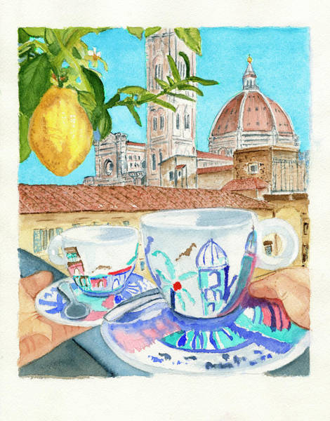 Wall Art - Painting - Cappuccino With A View by Deborah League