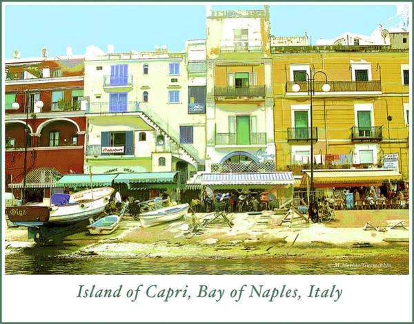 Digital Art - Capri, Italy, Street Scene by A Gurmankin