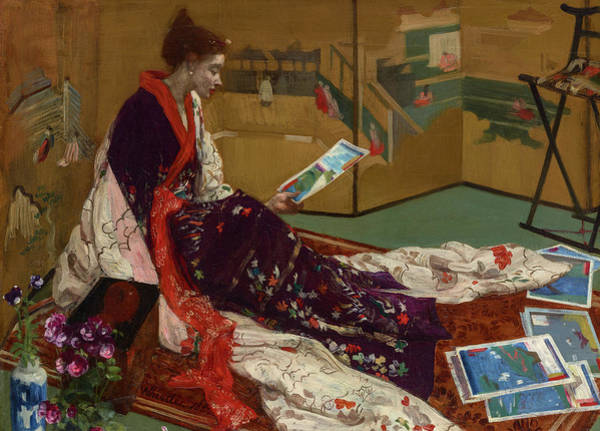 Wall Art - Painting - Caprice In Purple And Gold The Golden Screen, 1904 by James Abbott McNeill Whistler