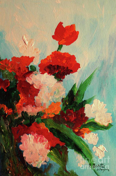 Wall Art - Painting - Capricious Carnations by Patricia Brintle