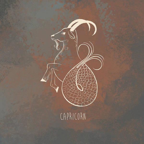 Zodiac Digital Art - Capricorn  by Kristina Vardazaryan