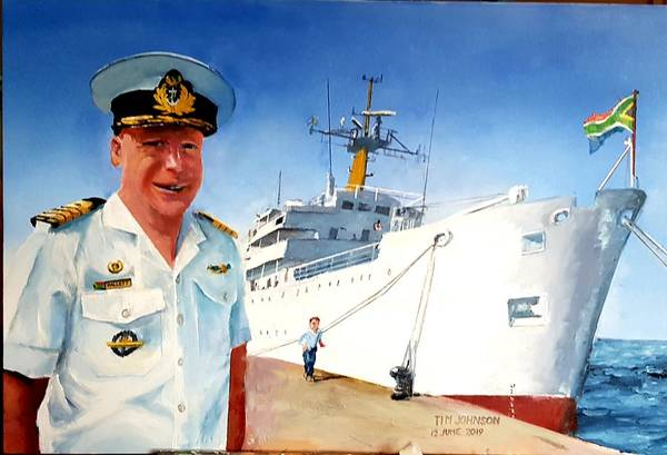 Painting - Capt Glen Hallett by Tim Johnson