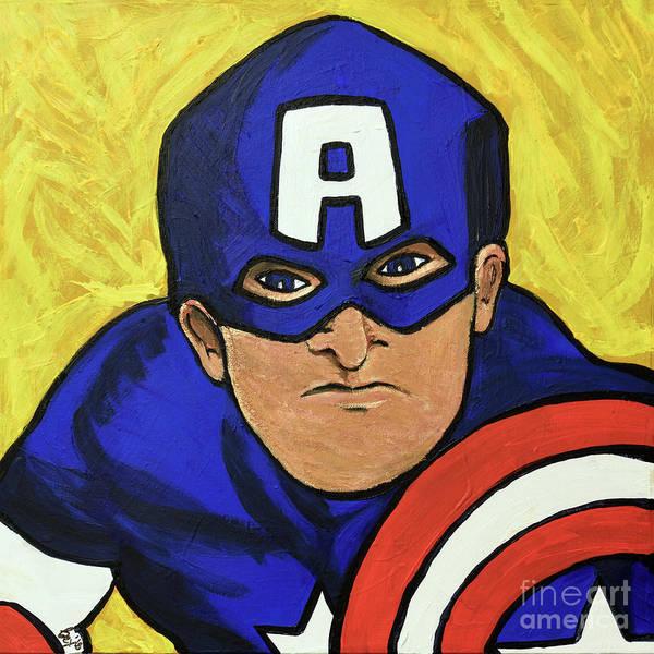 Painting - Captain America by Rebecca Weeks Howard