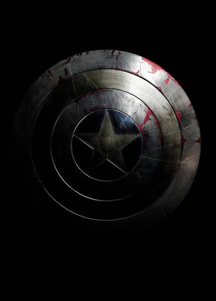 Captain America Shield Art Print